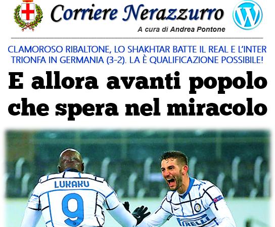Corriere Nerazzurro – Edizione 02/12/2020 (Borussia M'Gladbach 2-3 Inter)